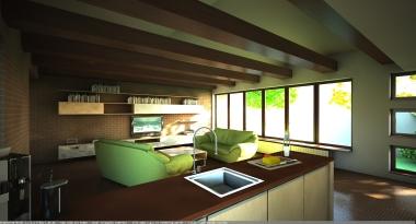 design living cu bucatarie 2