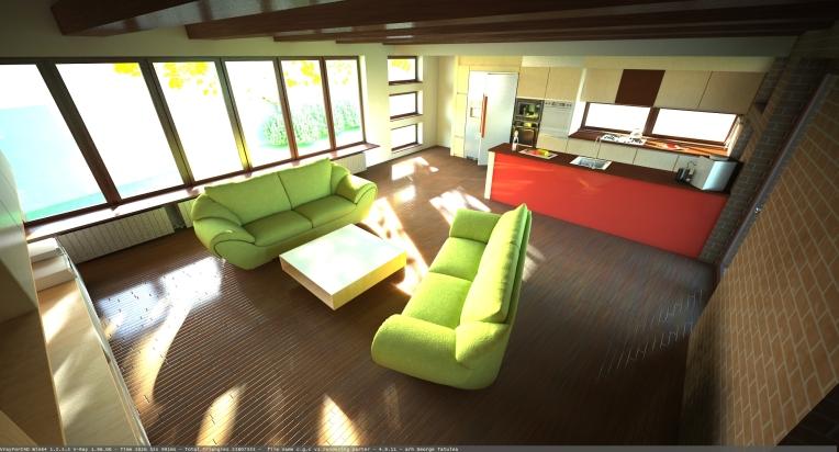 design living cu bucatarie 3